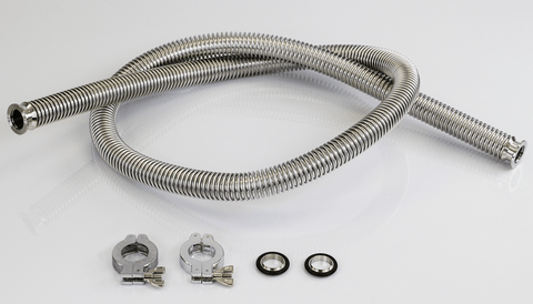Vacuum Oven Parts KF-25 Bellow Fitting Hose 6' - KIT