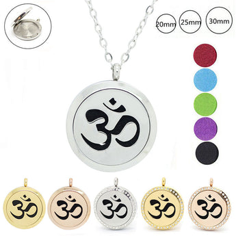 Magnetic Reiki Essential Oil Diffuser Stainless Steel Necklaces