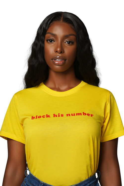 Block His Number Tee