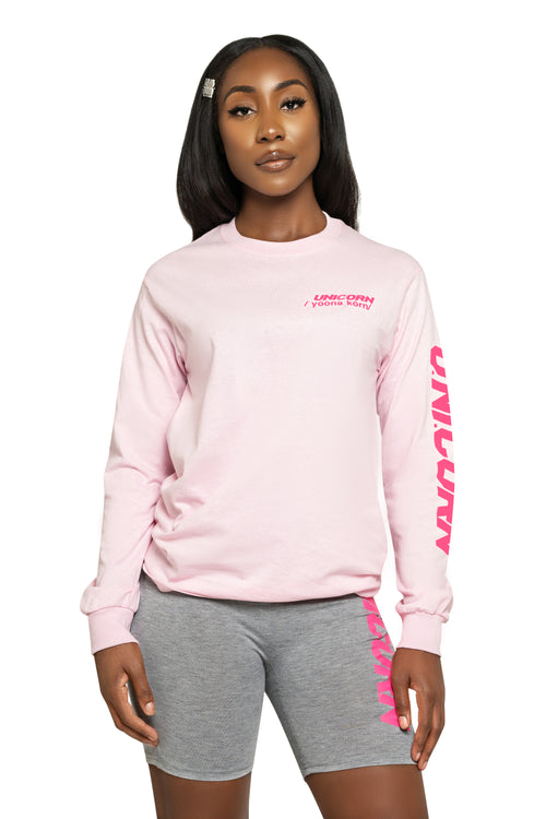 So Chill Pink Long Sleeve Tee - The Unicorn Universe