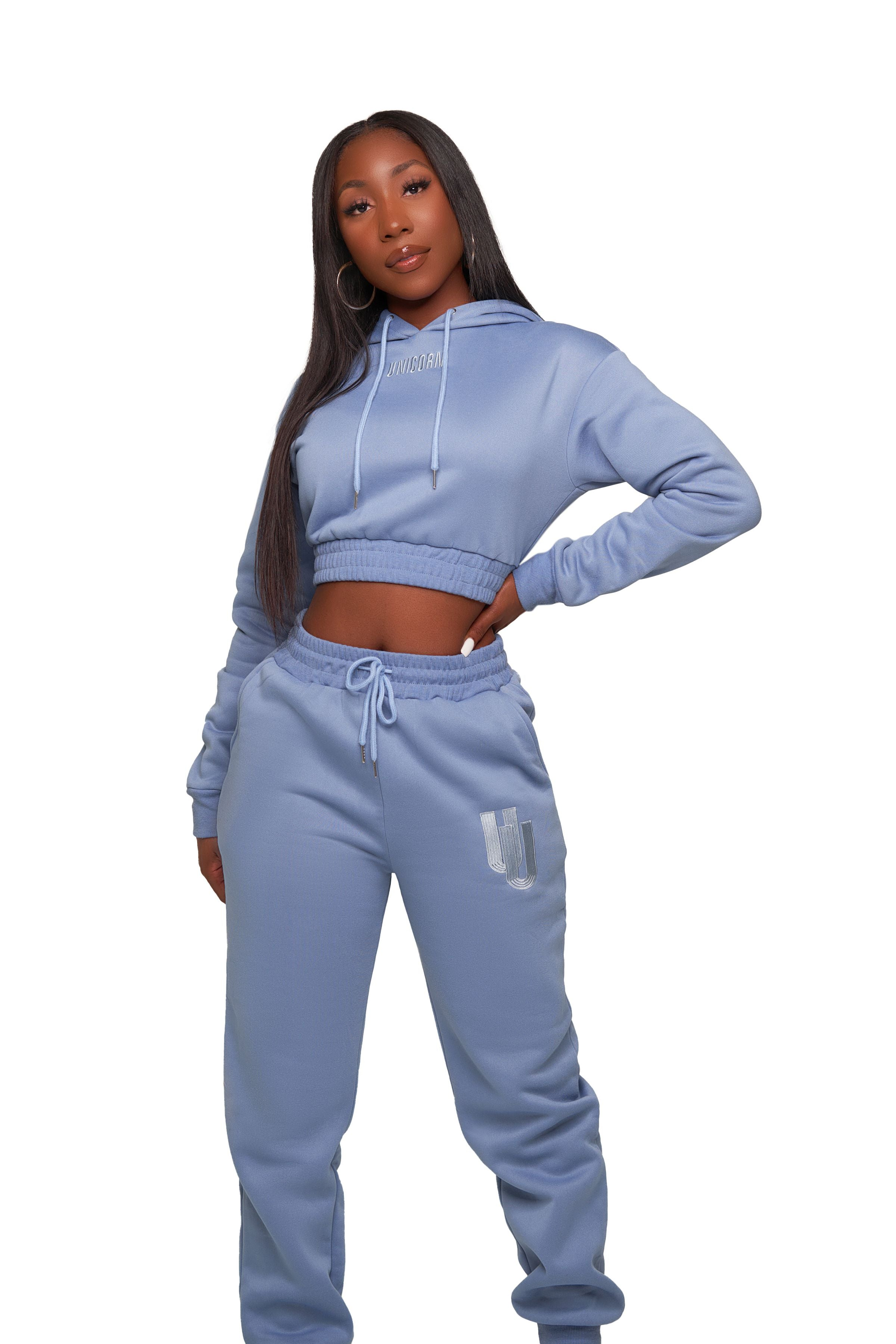 UNICORN Crop Hoodie Set (click here for all colors)