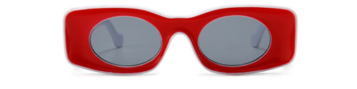 Retro Glasses -Red