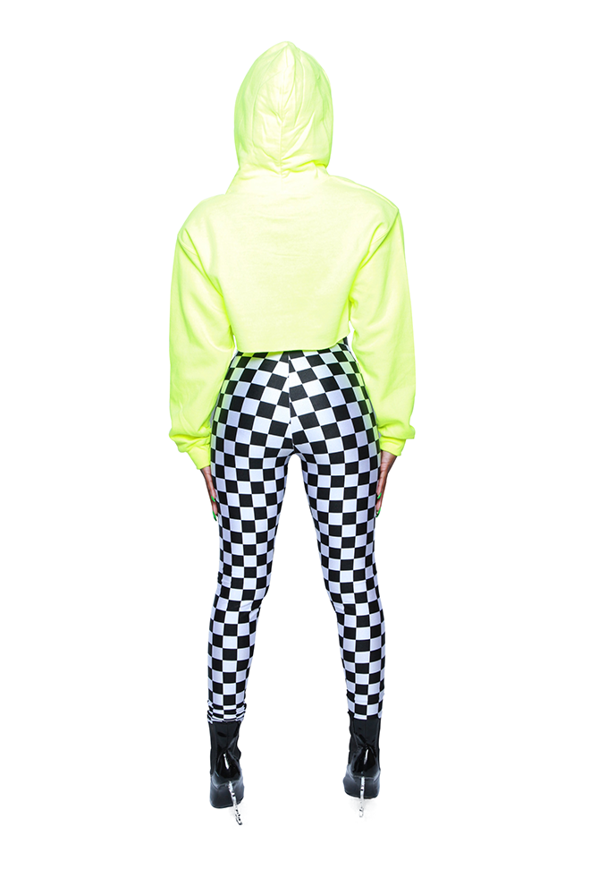 Heartbreaker Checkered High Waist Pants
