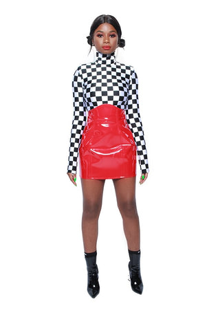 Heartbreaker Checkered Bodysuit