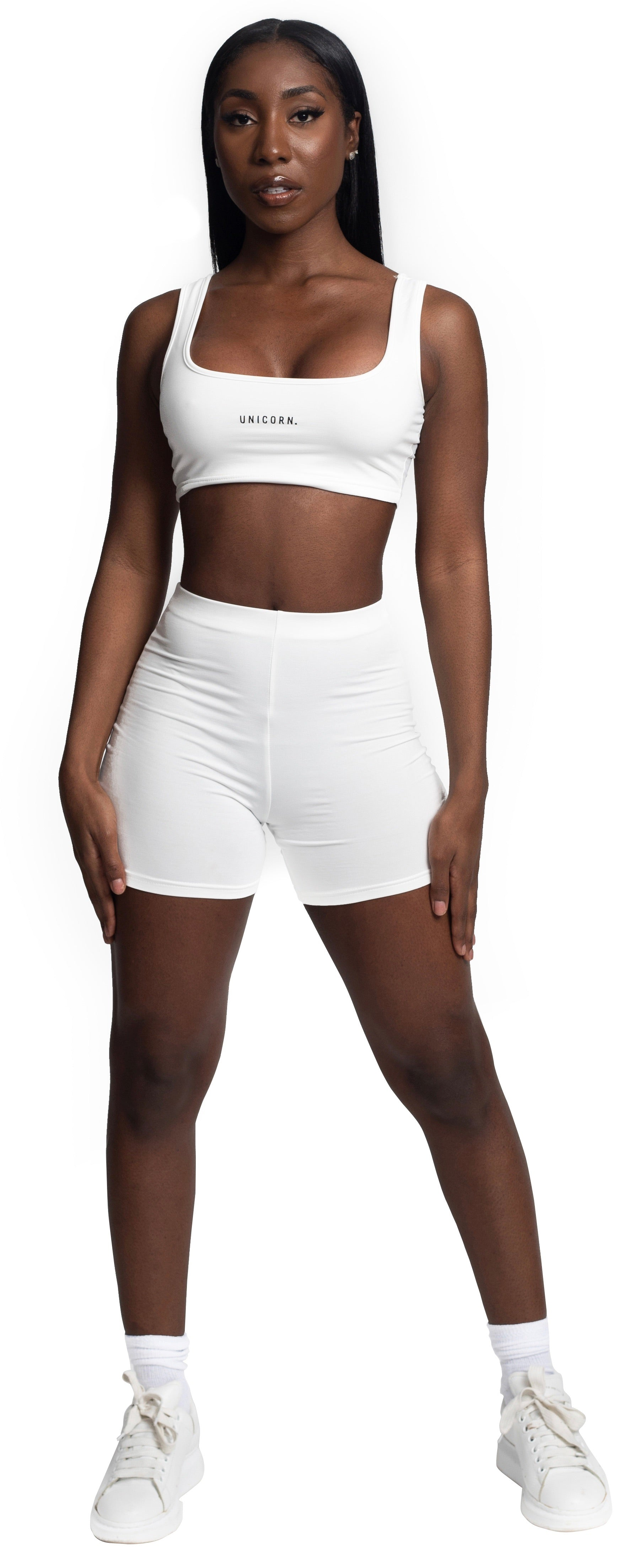 House Life White Biker Short