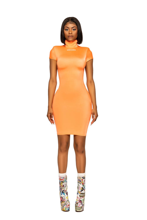 Neon Orange Birthday Dress