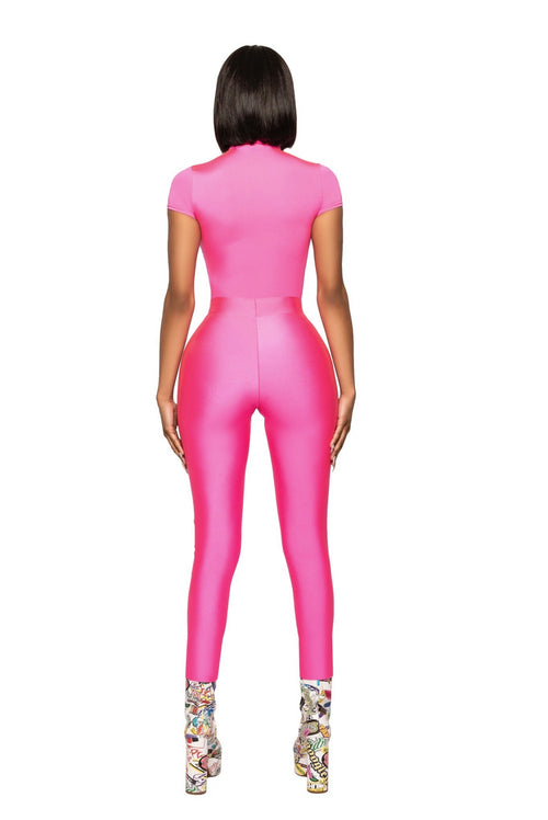 Pink Unicorn High Waist Spandex Jogger