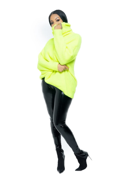 Cozy Neon Oversized Sweater