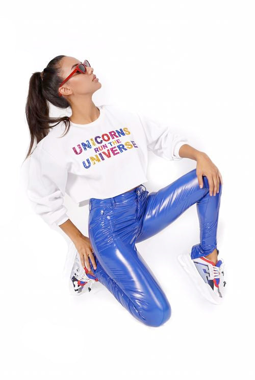 Embroidered Run the Universe Sweatshirt
