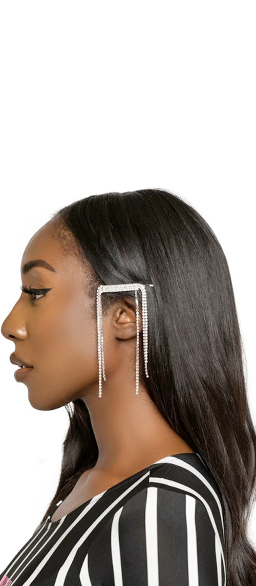 Diamond Dangling Hair Clip