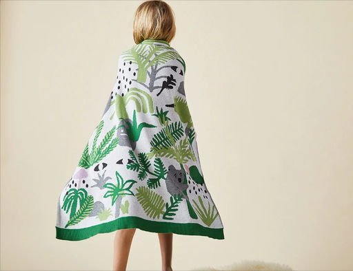 Fern Gully Knit Blanket