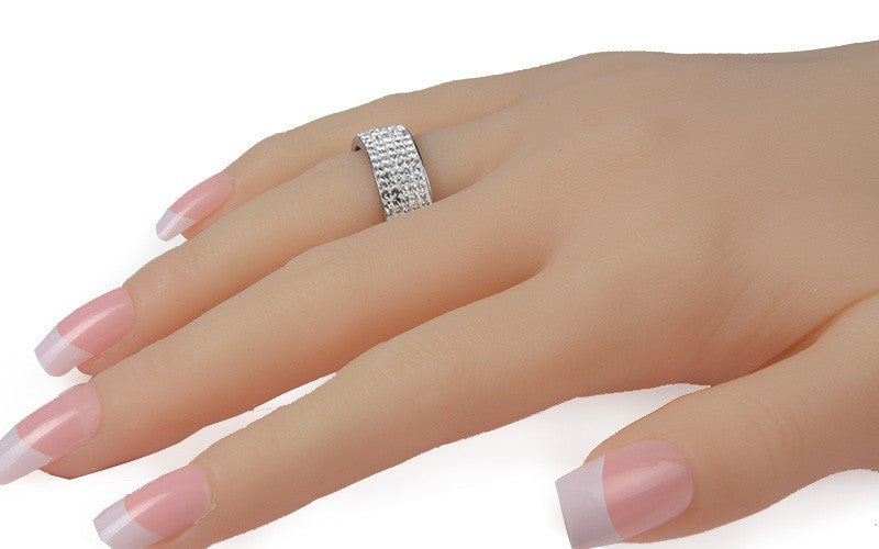 5 Rows Crystal Ring