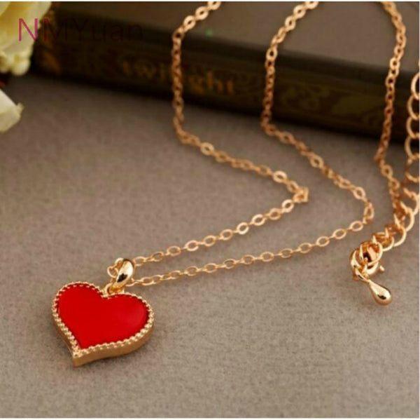 Red Hearts Love Necklace