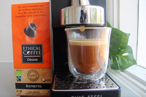 EcoCaffe Ethical Coffee espresso shot