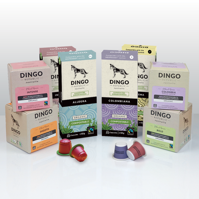 Taster Pack with Organic Fairtrade Coffees - 80 Pods | Biodegradable & Compostable
