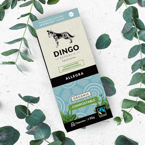 Allegra Organic Fairtrade Coffee - 10 Biodegradable and Compostable Pods