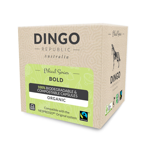 Bold Fairtrade Organic Coffee - Jumbo Pack - 80 Capsules | Biodegradable & Compostable