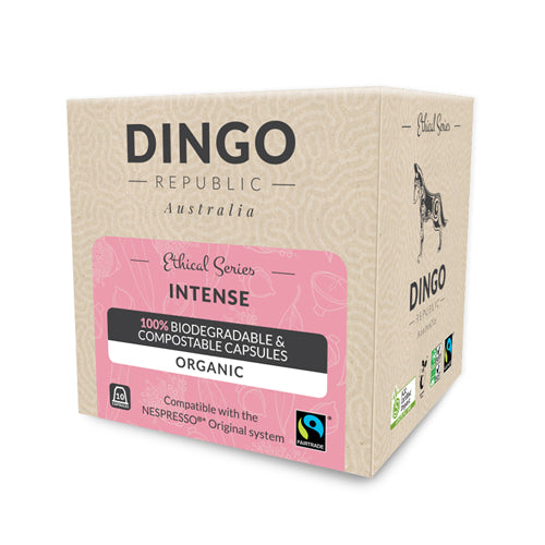 Intense Fairtrade Organic Coffee - Intensity 10/10 | Biodegradable & Compostable | 10 Pods