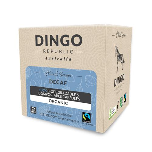 Decaf Fairtrade Organic Coffee - 80 Capsules - Swiss Water Process | Biodegradable + Compostable