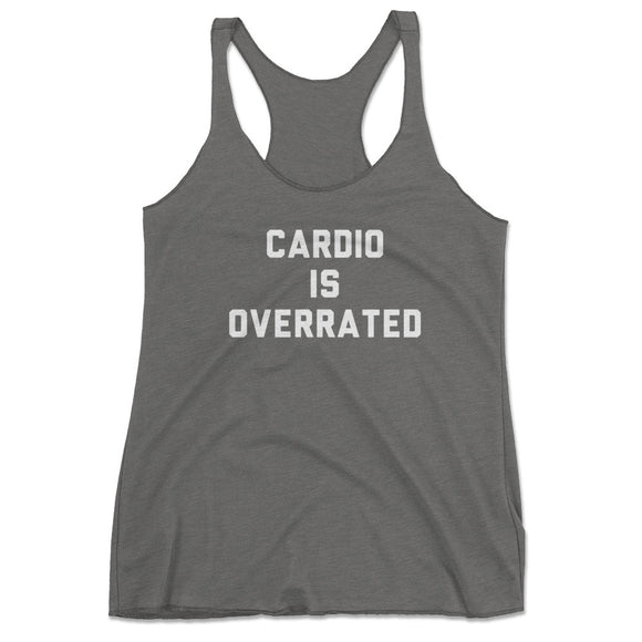 23f890c225fd6 Women s Cardio Is Overrated Funny Gray Workout Tank Top