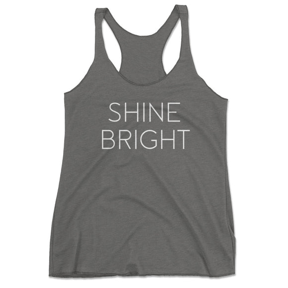 Women's Shine Bright Yoga Tank Top - Gray