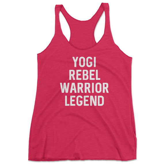 Yogi Rebel Warrior Pink Tank Top, cute yoga shirts, funny yoga shirts, yoga tank top, cute yoga top