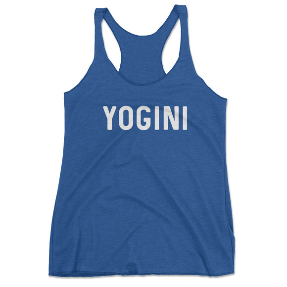 Women's Yogini Yoga Workout Racerback Tank Top - Blue