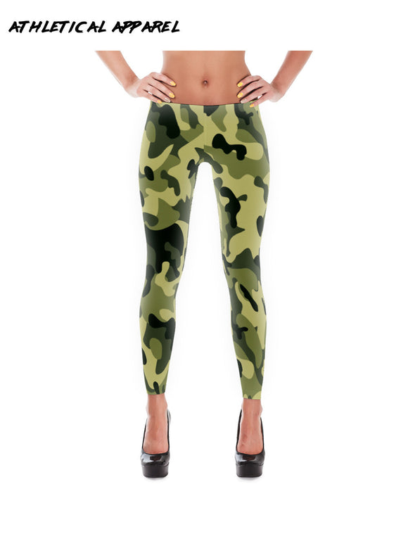 Women's Forest Camo Slim Workout Leggings