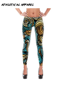 Colorful Spiral Workout Leggings