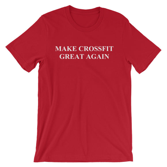 Make Crossfit Great Again Funny Crossfit Workout Shirt - Red