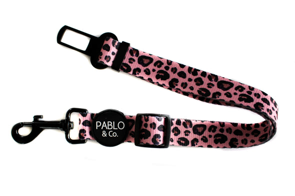 Pink Leopard: Adjustable Car Restraint