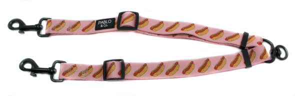 Pink Hot Dogs: Adjustable Leash Splitter