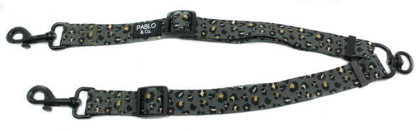 Khaki Leopard: Adjustable Leash Splitter