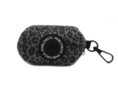 Black & Grey Leopard - Poop Bag Holder