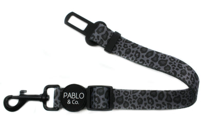 Black & Grey Leopard: Adjustable Car Restraint