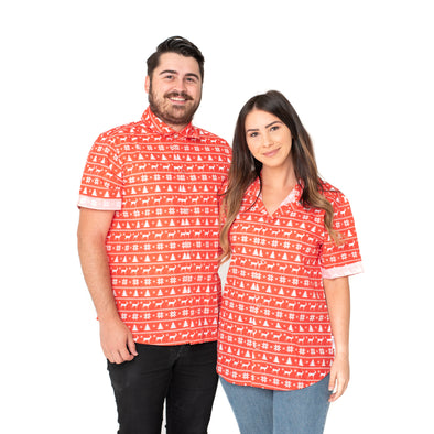 Unisex Human's Ugly Christmas Sweater BBQ Tee