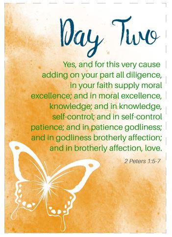 Fruit of the Spirit Printable Scripture Cards: Self Control (Set #10)