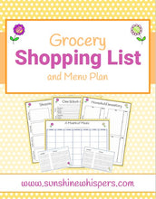 Grocery Shopping List and Menu Planner