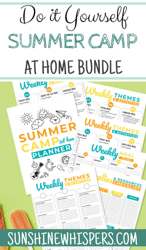DIY Summer Camp at Home Printable Planner and Activity Bundle