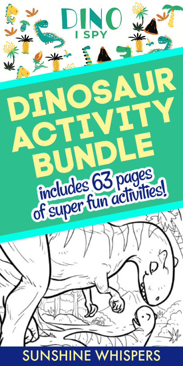 Dinosaur Coloring Book and Activity Pack Bundle