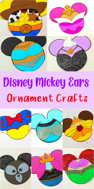 Disney Mickey Ears Ornament Craft Bundle