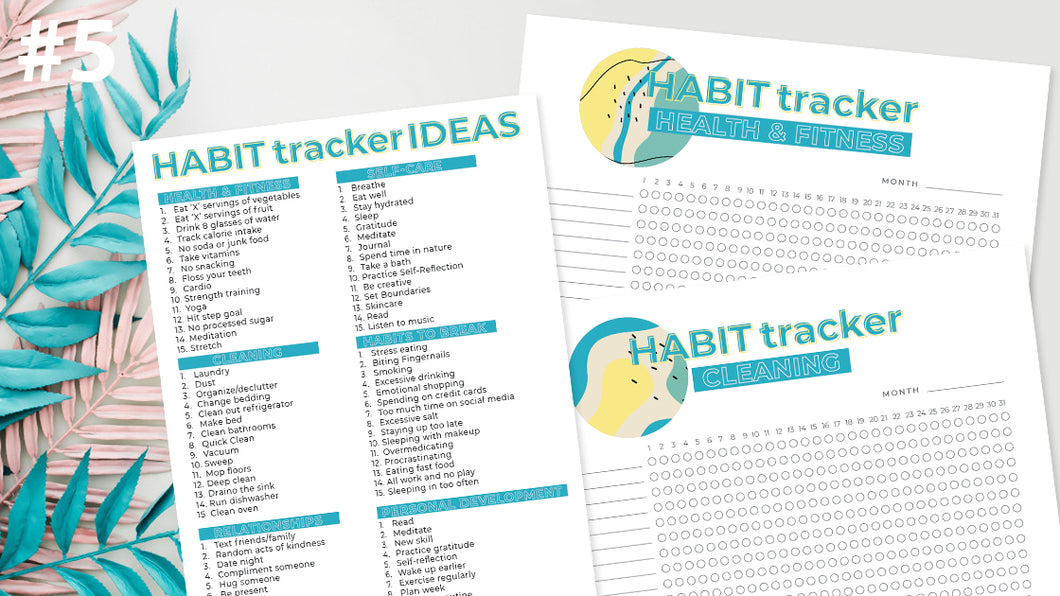 Habit Tracker Printable Pack