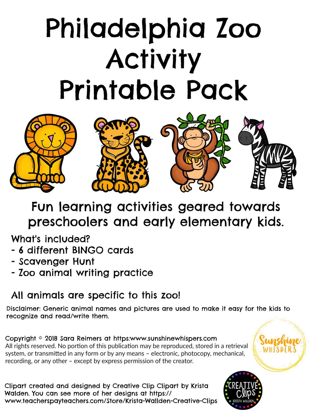 photo about Zoo Scavenger Hunt Printable titled Philadelphia Zoo Game Printable Pack