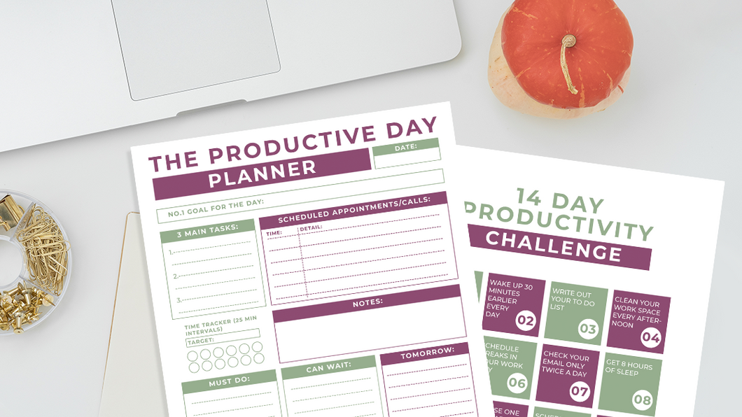 Productivity Planner and Challenge