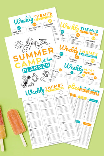 Summer Camp at Home Planner