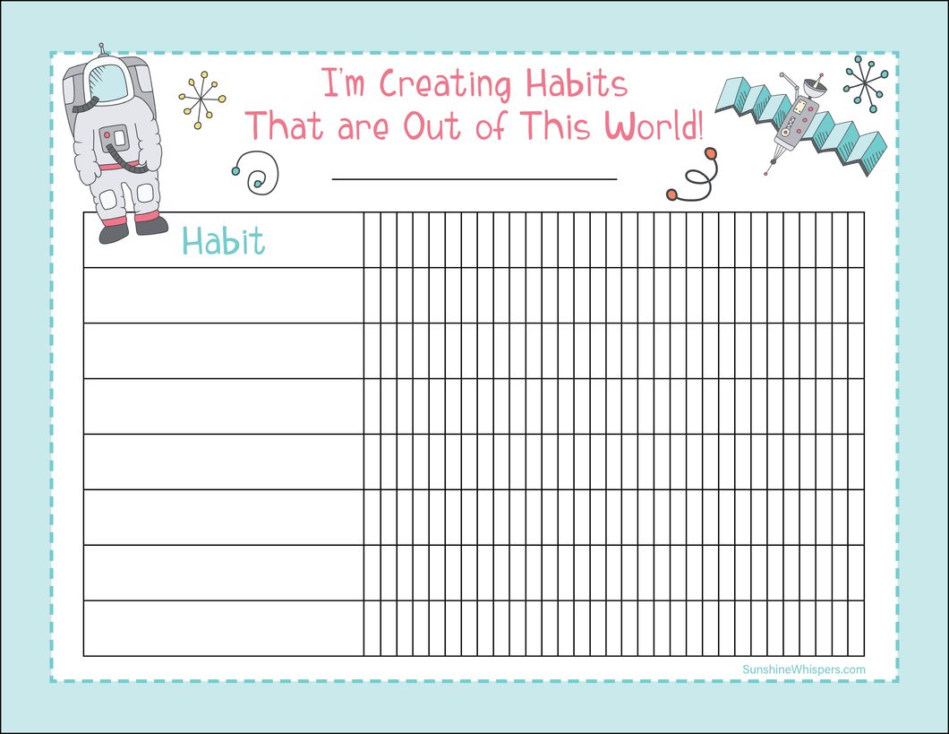 Space Habit Tracker For Kids