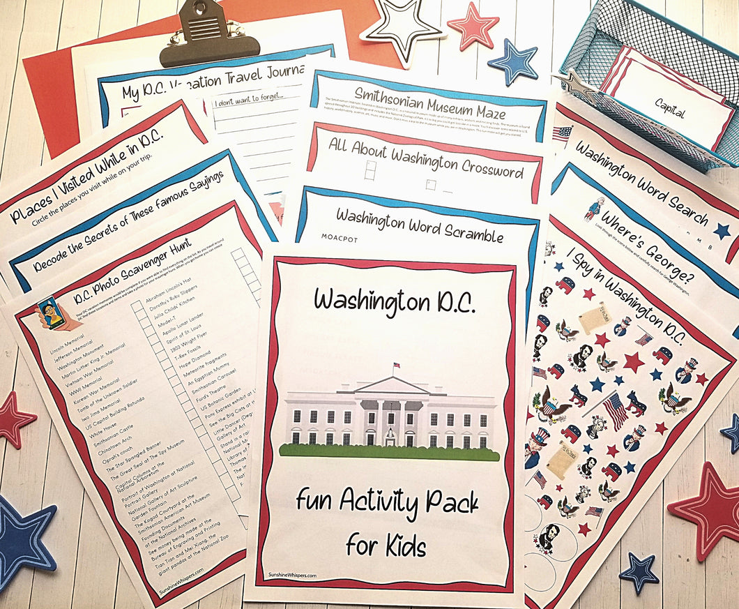 Washington D.C. Activities For Kids