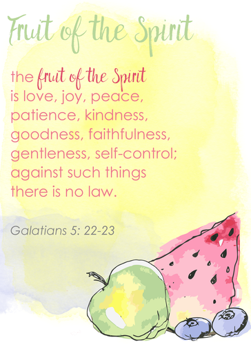 Fruit of the Spirit Printable Scripture Cards: Overview (Set #1)
