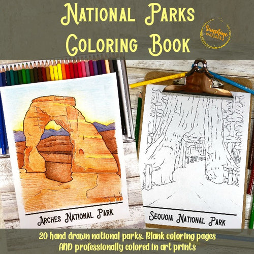 National Parks Coloring Book and Fine Art Prints