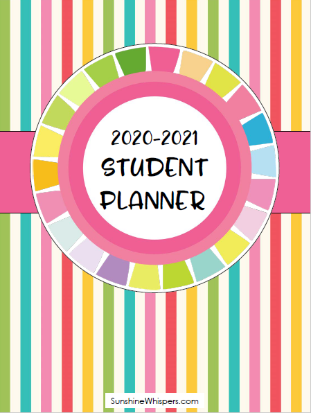 Printable Student Planner for 2020-2021 School Year